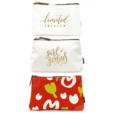 Set of 3: Medium Pouches