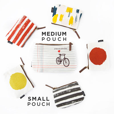 Bundle of 3 Pouches: Waxed Canvas Collection