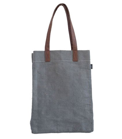 Waxed Ash Canvas Market Tote Bag
