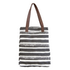 Market Tote - Charcoal Stripes