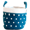 Canvas Bucket - Navy Dots