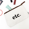 "Travel Pouch - ""Etc."""
