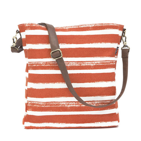 Stripes Tangerine Sling Crossbody