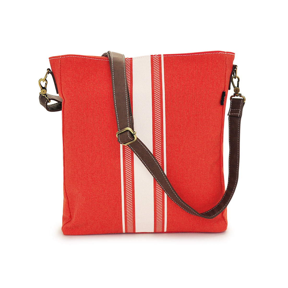 NEW! Crossbody Bag - Mod Stripe Cream/ Red