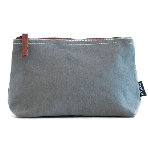 Ash Waxed Canvas Pouch
