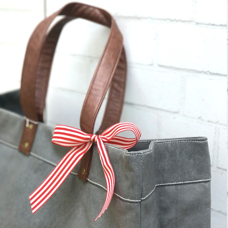 Waxed Ash Canvas Carryall Tote