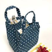Lunch + Pie Tote - Waxed Navy