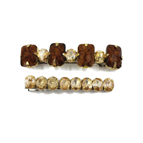 CRYSTAL STONES BARRETTES - ZDparis