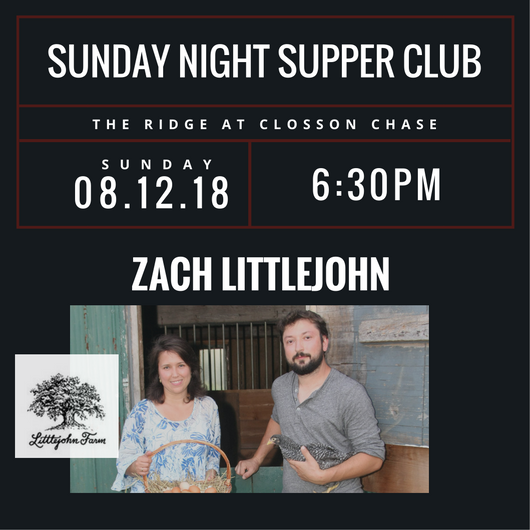 Supper Club - Zach Littlejohn 2018