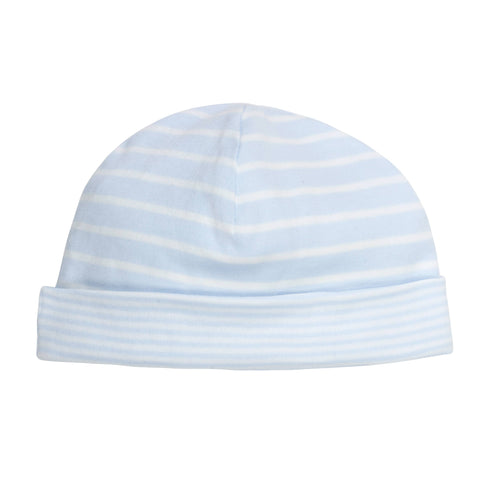 Blue Stripe Reversible Baby Hat