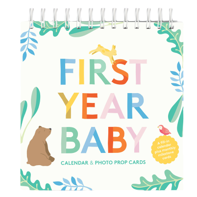 First Year Baby Calendar & Photo Book