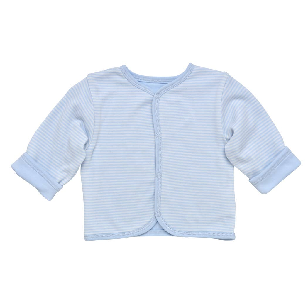 Baby Blue Reversible Striped Cardigan