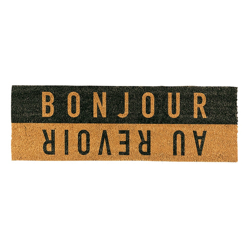 Door Mat - Bonjour Au Revior
