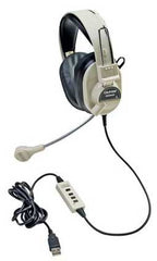 Califone 3066USB  Deluxe USB Stereo Headphone with Microphone