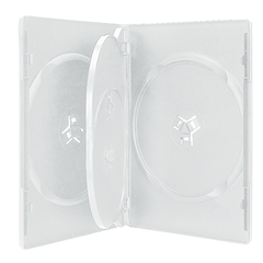 White Plastic Four Capacity CD/DVD Storage Album