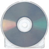Clear Clamshell Plastic CD/DVD Storage Case