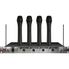 Nady 401x Quad 4 Channel Wireless Handheld Microphone System