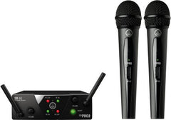 AKG WMS40 MINI DUAL VOCAL SET 2-Ch Wireless Microphone System with 2 Handheld Transmitters