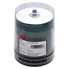 CMC Pro CD-R 52X White Inkjet Hub Printable, Semi-Gloss Water Resistant Blank  Discs in 100 Spindle