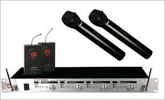 Nady U41 Lavalier and Handheld Professional 4-Channel UHF Wireless Mic System
