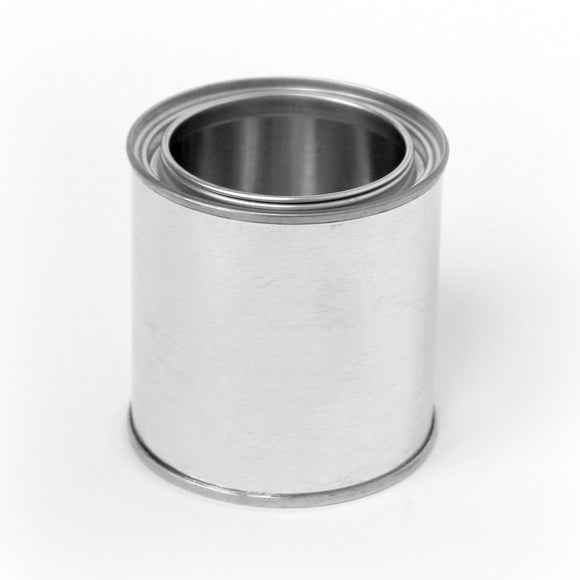 1/2 pint tin paint can unlined with plug