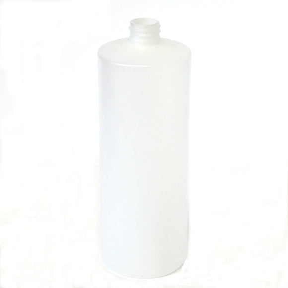 Bottle 16 oz cylinder round HDPE 28/410 natural