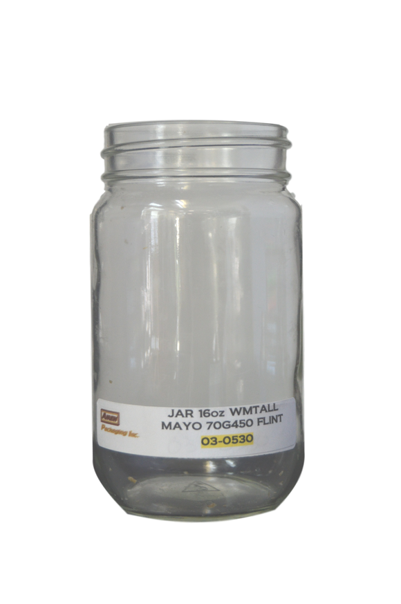 16 oz wide mouth Mayo jar 70G 450