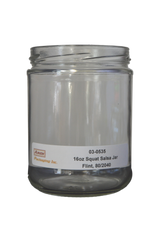 16 oz squat salsa jar flint glass 82-2040