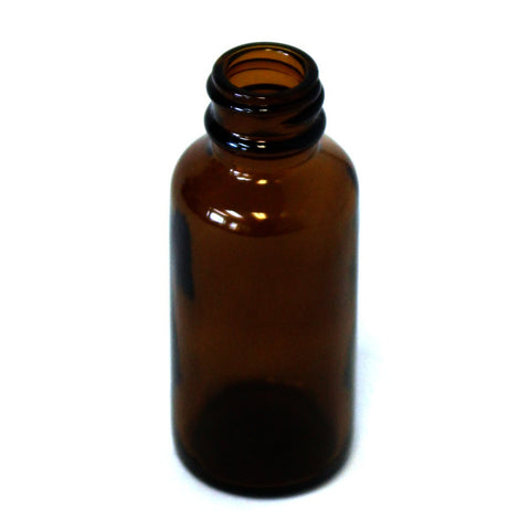 1 oz Boston Round bottle Amber glass with a 20/400 neck in amber
