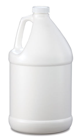 Bottle gallon round HDPE 38mm 4/1 reshipper white