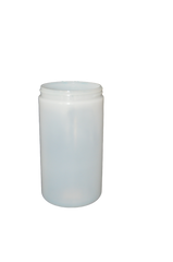 Jar 32 oz wide mouth HDPE 89mm natural (anti static)