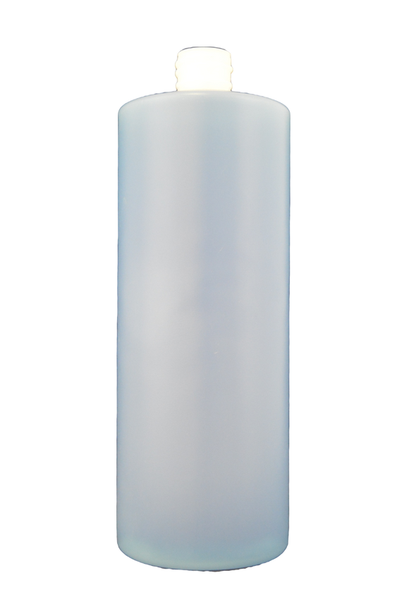 Bottle 32oz cylinder round HDPE 28/410 natural
