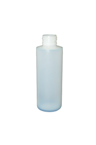 Bottle 4 oz cylinder round HDPE 24/410 natural