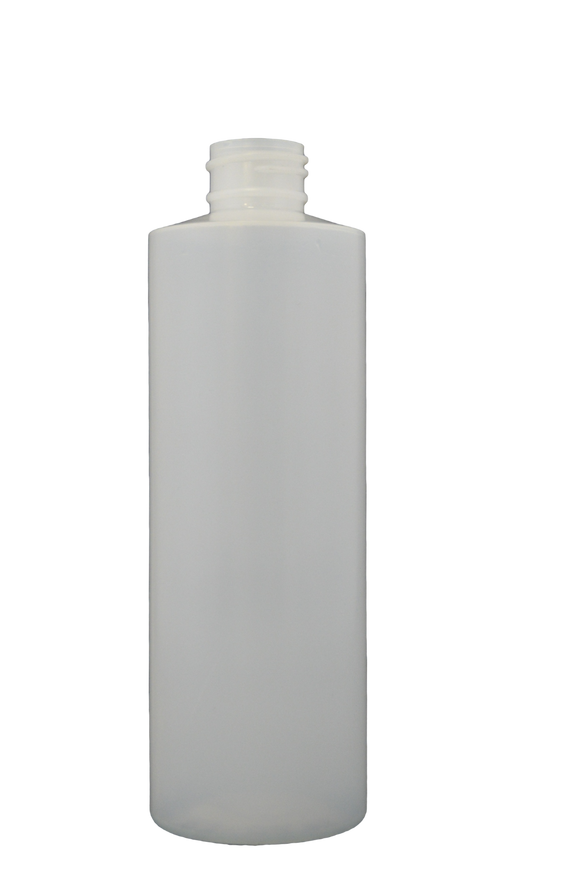 Bottle 16 oz cylinder round HDPE 28/400 natural