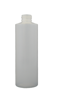 Bottle 8 oz cylinder round HDPE 24/410 natural