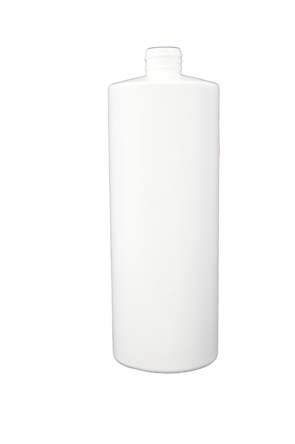 Bottle 32 oz cylinder round HDPE 28/410 White