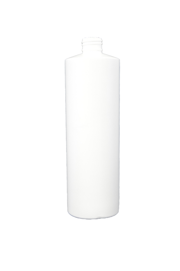 Bottle 16 oz cylinder round 24/410 white