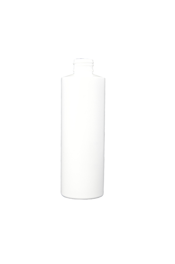 Bottle 4 oz cylinder round HDPE 24/410 white