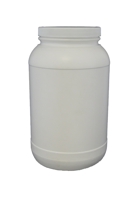 Jar gallon round HDPE 110M white