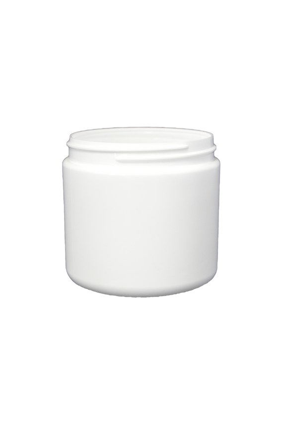Jar 16 oz HDPE wide mouth 89/400 white (anti-static)