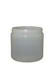 Jar 16 oz HDPE wide mouth 89/400 natural (anti-static)
