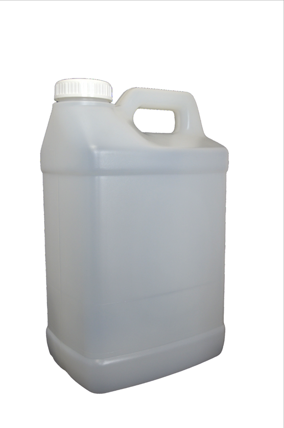 Bottle 2 1/2 gallon F- Oblong HDPE 63mm HIH Natural