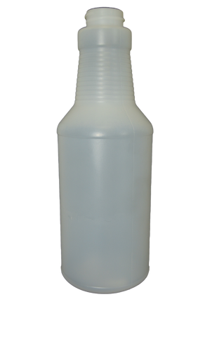 Bottle 16 oz modern carafe HDPE 28/400 natural