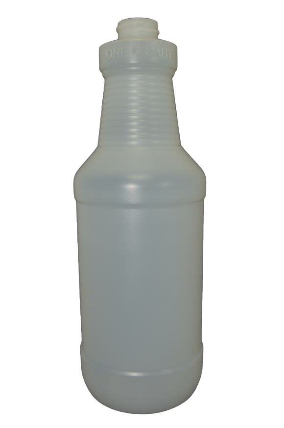Bottle 32 oz Ring Neck Carafe HDPE 28/400 Natural