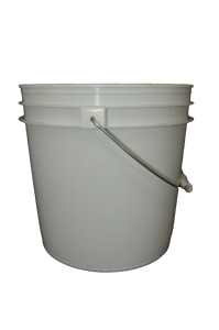 Three and half gallon HDPE plastic pail white