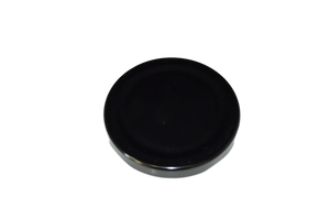 CAP 70/2030 METAL BLACK WITH SAFTEY BUTTON & PLASTISOL