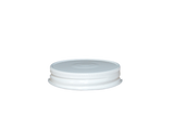 CAP 70G450 METAL WHITE WITH SAFTEY BUTTON & PLASTISOL