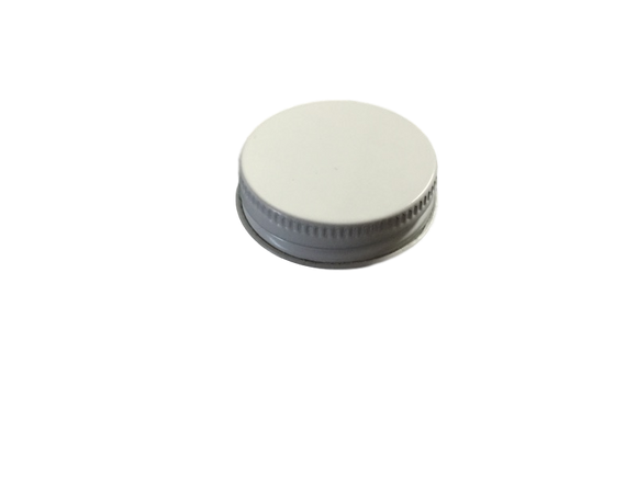 CAP 38-400  METAL WITH  PLASTISOL LINER WHITE
