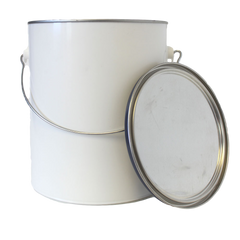 1 gallon polypropylene paint can with plug and bail