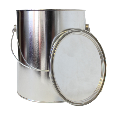 1 gallon tin paint can unlined with plug and bail